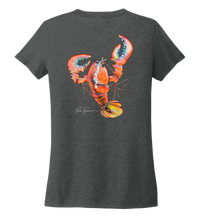 Load image into Gallery viewer, Ronnie Reasonover, The Lobster, Women's V-neck T-shirt in Slate Black