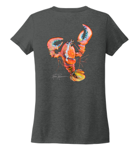 Ronnie Reasonover, The Lobster, Women's V-neck T-shirt in Slate Black