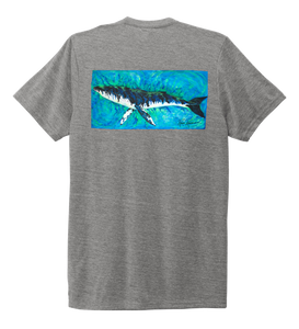 Ronnie Reasonover, The Whale, Crew Neck T-Shirt in Oyster Grey