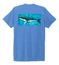 Load image into Gallery viewer, Ronnie Reasonover, The Whale, Crew Neck T-Shirt in Sky Blue