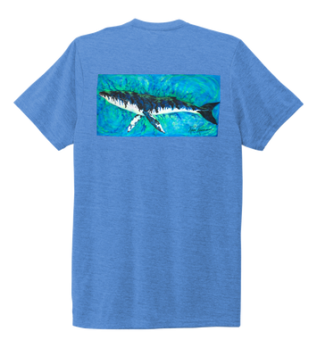 Ronnie Reasonover, The Whale, Crew Neck T-Shirt in Sky Blue
