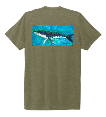Ronnie Reasonover, The Whale, Crew Neck T-Shirt in Earthy Green