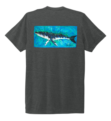 Ronnie Reasonover, The Whale, Crew Neck T-Shirt in Slate Black