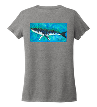 Load image into Gallery viewer, Ronnie Reasonover, The Whale, Women's V-neck T-shirt in Oyster Grey