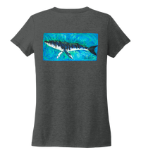Load image into Gallery viewer, Ronnie Reasonover, The Whale, Women's V-neck T-shirt in Slate Black