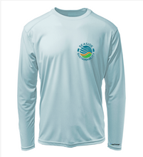 Load image into Gallery viewer, Seaside Sustainability Shirt in Cloud Blue