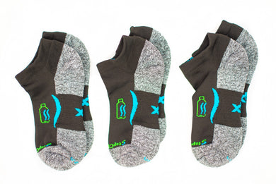 Ankle Sock 3-Pair Bundle in Blackfin *Buy2PairGet1Free Bundle*