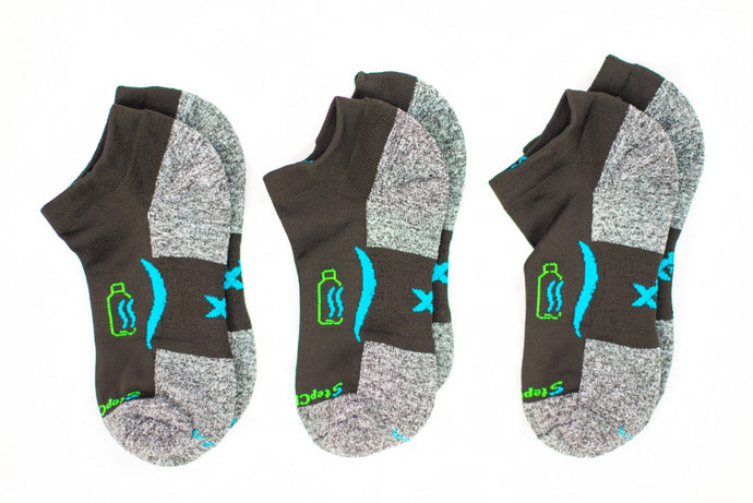 Ankle Sock 3-Pair Bundle in Blackfin