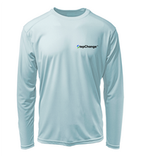 Load image into Gallery viewer, Colin Thompson, Snook, Performance Long Sleeve Shirt in Cloud Blue