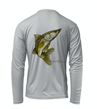 Load image into Gallery viewer, Colin Thompson, Snook, Performance Long Sleeve Shirt in Oyster Grey