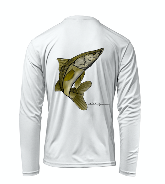 Colin Thompson, Snook, Performance Long Sleeve Shirt in Marine White
