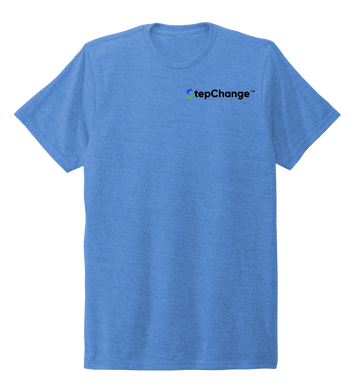 StepChange Unisex Crew Neck T-shirt in Sky Blue