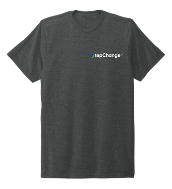 StepChange Unisex Crew Neck T-shirt in Slate Black