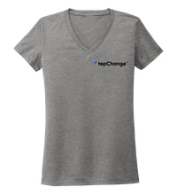 Load image into Gallery viewer, StepChange Women's V-neck T-shirt in Oyster Grey