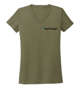 Lauren Gilliam, Octopus, Women's V-neck T-shirt in Earthy Green
