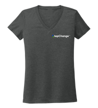 Load image into Gallery viewer, StepChange, Porpoise, Women's V-neck T-shirt in Slate Black