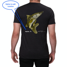 Load image into Gallery viewer, Artist Collection: Colin Thompson, Snook, Crew Neck T-Shirt in Slate Black
