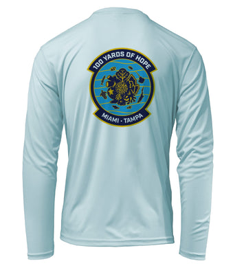 FORCE BLUE 100 YARDS OF HOPE Performance Shirt in Cloud Blue