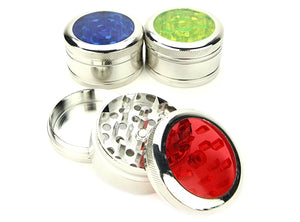 Aluminum Acrylic 3-Piece Herb Grinder 1pc | 50mm 2 inch