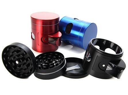 4-Piece Herb Grinder w/ Side Windows & Dispenser 1pc | 50mm 2 inch