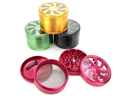Clear Top 4-Piece Metal Herb Grinder 1pc | 62mm 2.5 inch