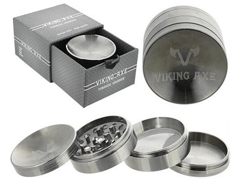 VIKING AXE 4-Part Sunken Shape Metal Grinder | 62mm  2.5 inch