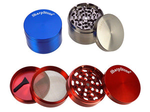 SharpStone 4-Piece Colored Metal Grinder Random | 63.5mm 2.5 inch