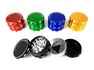 2.5″ 4-Part Chromium Crusher Metal Colored Herb Tobacco Grinder