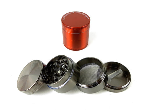 1.6″ 4-Part Chromium Crusher Zinc Herb Tobacco Grinder