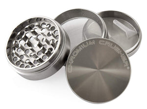2.5″ 4-Part Chromium Crusher Zinc Gunmetal Herb Tobacco Grinder