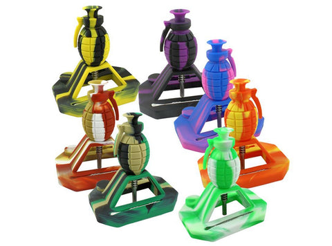 6″ Grenade Silicone Nectar Collector 1pc