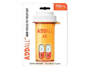ADDALL XR BRAIN BOOST FOCUS MEMORY CONCENTRATION SUPPLEMENT 750MG