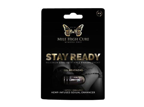 Mile High Cure CBD Stay Ready Hemp Infused Male Enhancement Pills