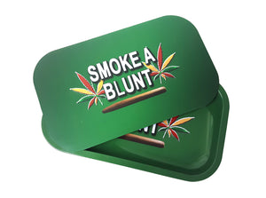 Metal Rolling Tray with Magnetic Cover 10.5″ x 6.5″