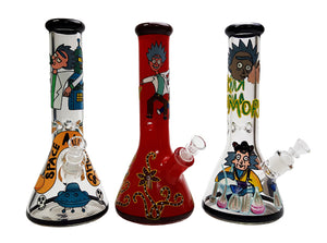 "12.5"" Glass Water Pipe Bong Cartoon Style 1pc"