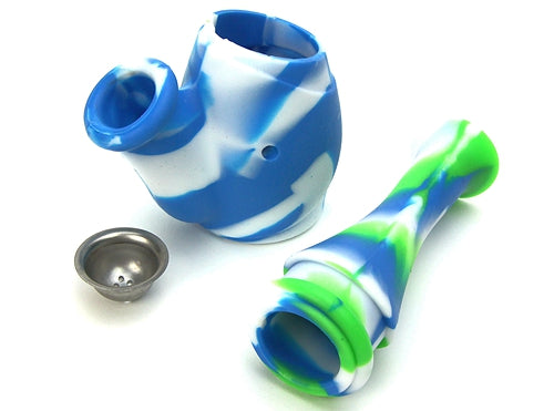 6″ Silicone Water Smoking Pipe