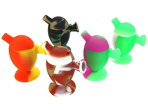 Silicone Mini Blunt Joint Smoking Bubbler Water Pipe Assorted