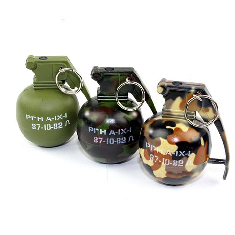 Camo Hand Grenade Metal Refillable Lighter 1pc