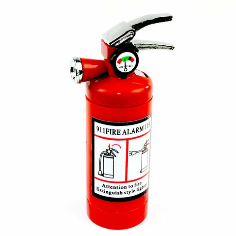 3'' Cute Fire Extinguisher Lighter with LED Light and Butane Refillable