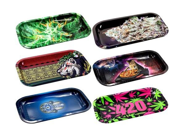 R&M Cartoon Rolling Tray 10.5″ x 6.5″ ( Random Design)