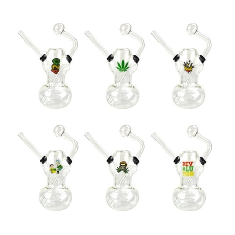 5.5″ Oil Burner Bubbler Pipe with Sticker