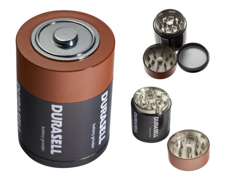 Battery 3 Piece Grinder with Built-in Screen