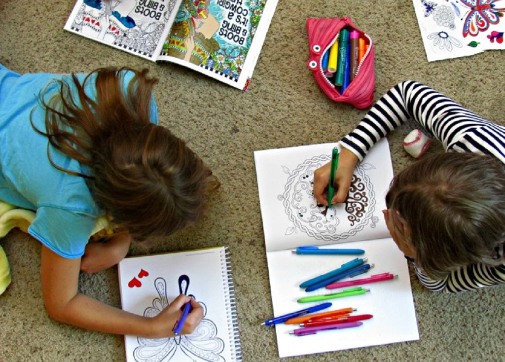 Coloring Books With Crayons And Or Markers