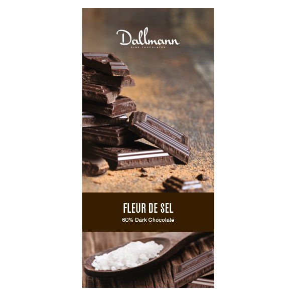 Dark Chocolate Fleur de Sel Chocolate Bar