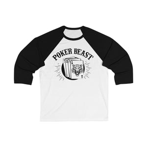 Unisex 3/4 Sleeve Poker Beast T-shirt