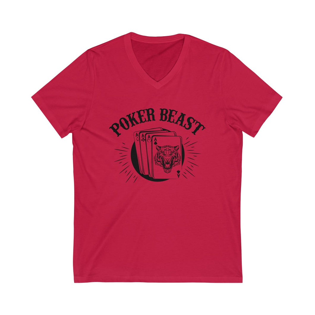 Poker Beast Unisex V-Neck T-shirt