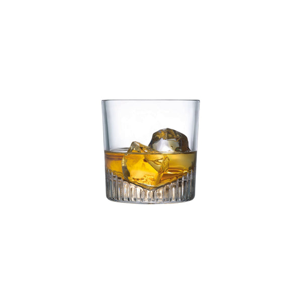 NUDE Caldera whisky glass filled with whisky