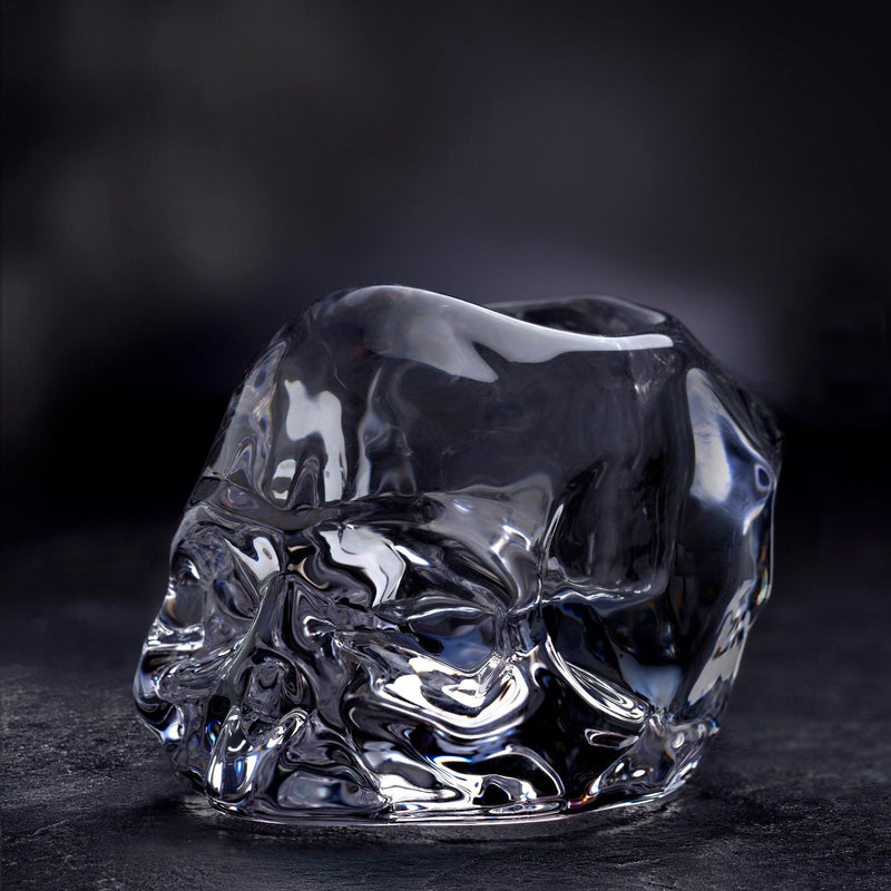 Nude Glass Memento Mori tealight holder lifestyle