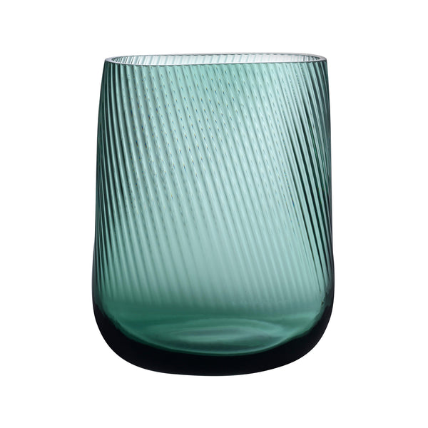 Nude Opti vase tall in smoked green by Defne Koz