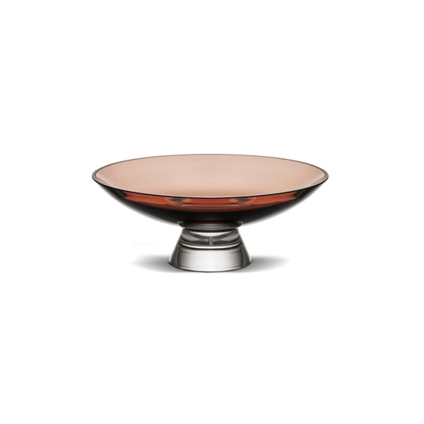 Nude Glass Silhouette Bowl medium in caramel lead-free glass